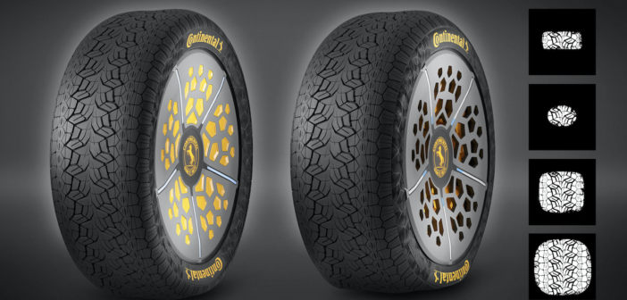 The Continental ContiSense and ContiAdapt tyre concepts