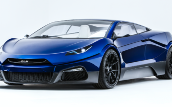 The GLM G4 electric supercar concept, revealed at the 2016 Paris Motor Show