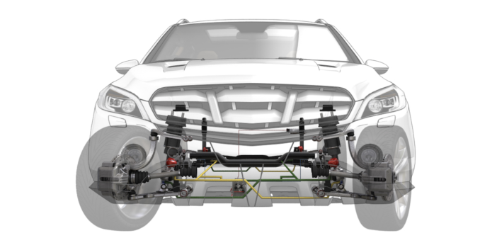 Tenneco enhances CVSA2/Kinetic suspension technology for SUV application