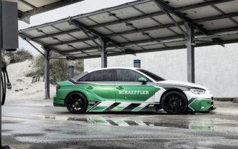 Schaeffler has developed a concept car that demonstrates how the technologies it has developed for the Formula E electric racing series can be applied to the volume production road car of the future. Named the 'Schaeffler 4ePerformance'