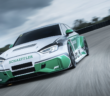 "The ""Schaeffler 4ePerformance"" concept vehicle demonstrates how quickly motorsport technology can be put on the road. Four 220kW drives from the ABT Schaeffler FE01 Formula E racing car have been fitted to the car,"