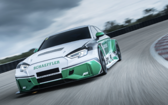 """The """"Schaeffler 4ePerformance"""" concept vehicle demonstrates how quickly motorsport technology can be put on the road. Four 220kW drives from the ABT Schaeffler FE01 Formula E racing car have been fitted to the car,"""