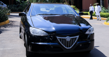 Can you identify this car made by KMC in Uganda?