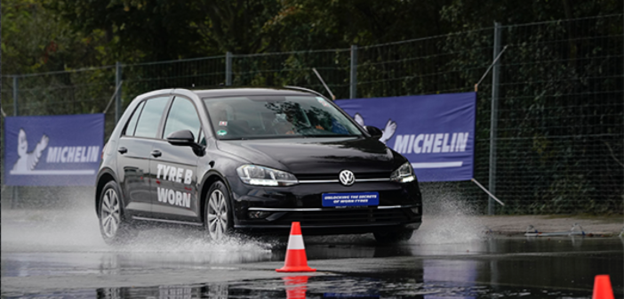michelin wet tyre test
