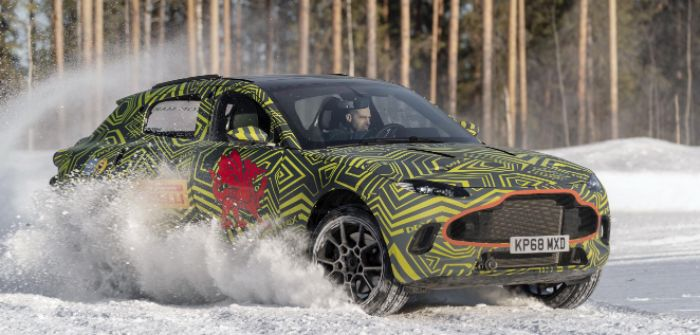Testing the Aston Martin DBX's dynamics