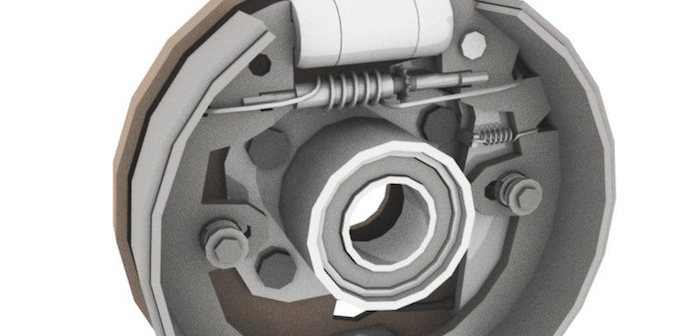 Who is widely credited with inventing the mechanical drum brake?