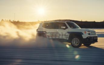The GTD19 demonstrator vehicleis undergoing testing at GKN's annual winter testing program in Arjeplog, Sweden