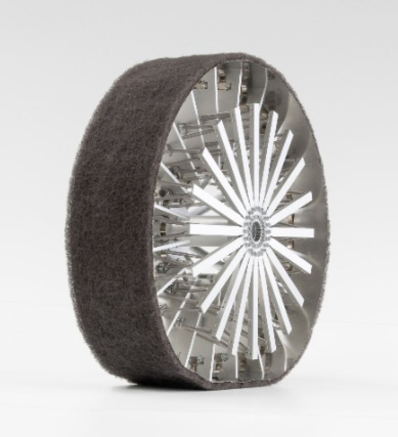 Bridgestone's proposed 'Elastic Wheel' optimizes the tire's contact patch with the lunar surface