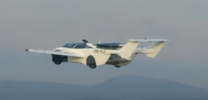 The maiden flight of the AirCar